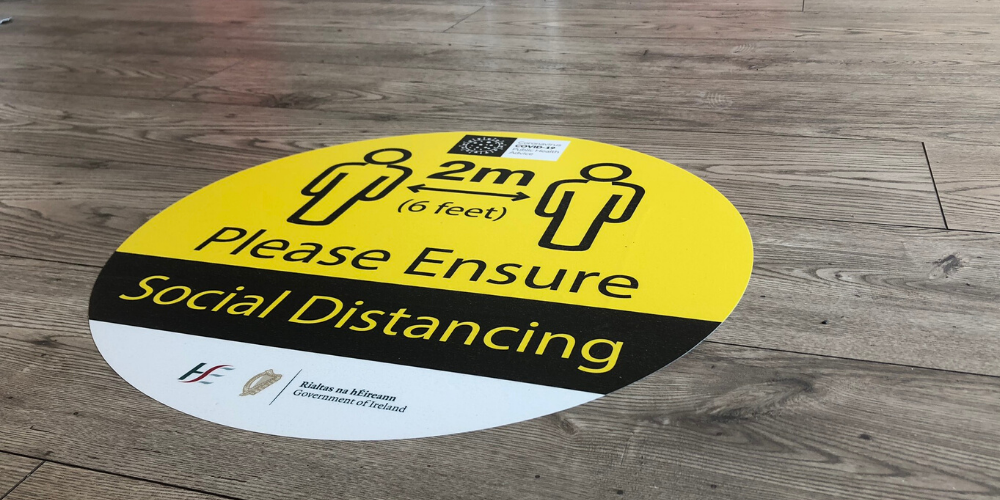 Social Distancing Floor Stickers