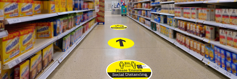 social distancing signage for workplace