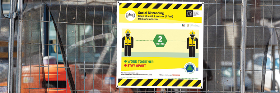 Construction Safety Social Distancing Signage for building sites