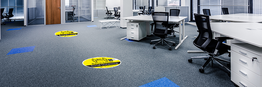 social distancing floor stickers for offices