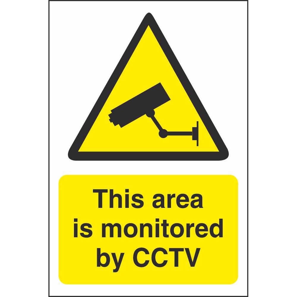 CCTV Area Monitored Hazard Signs