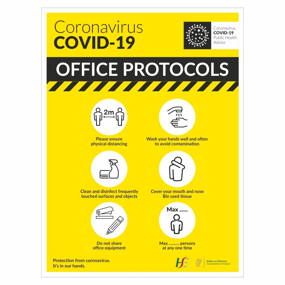 COVID-19 Office Protocols Sign