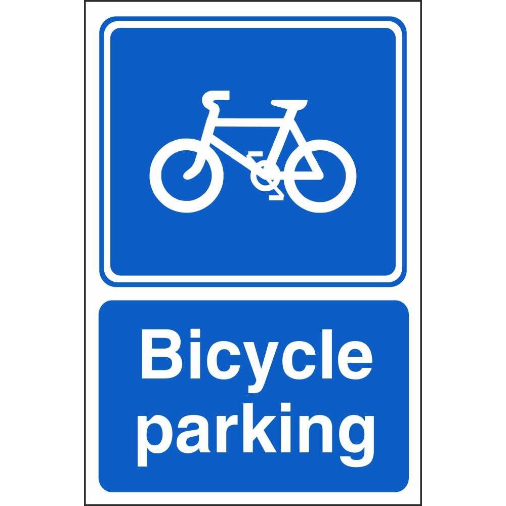 Bicycle parking  Safety sign