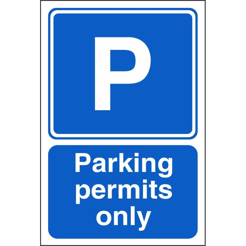 Parking Permits Only Signs