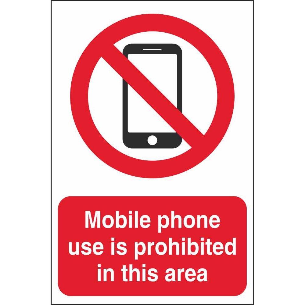 Mobile Phone Prohibition Signs Prohibitory Construction Safety Signs