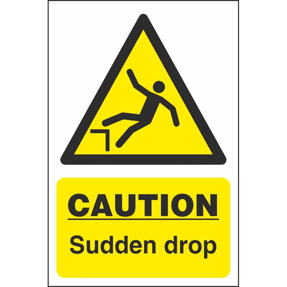 Caution Sudden Drop Signs  Hazard Construction Safety Signs. Pretty Lettering. Xmax Stickers. Justice League Murals. Free Sign Up. Hospitality Logo. Glass Frosting Decals. Bed Banners. Swimming Pool Banners