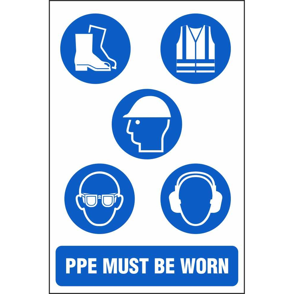 ppe must be worn signs multi notice site safety signs