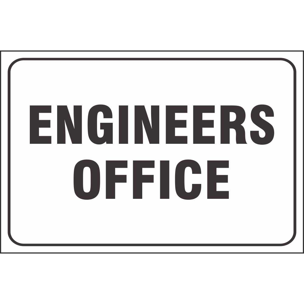 engineers office signs general site facility signs ireland