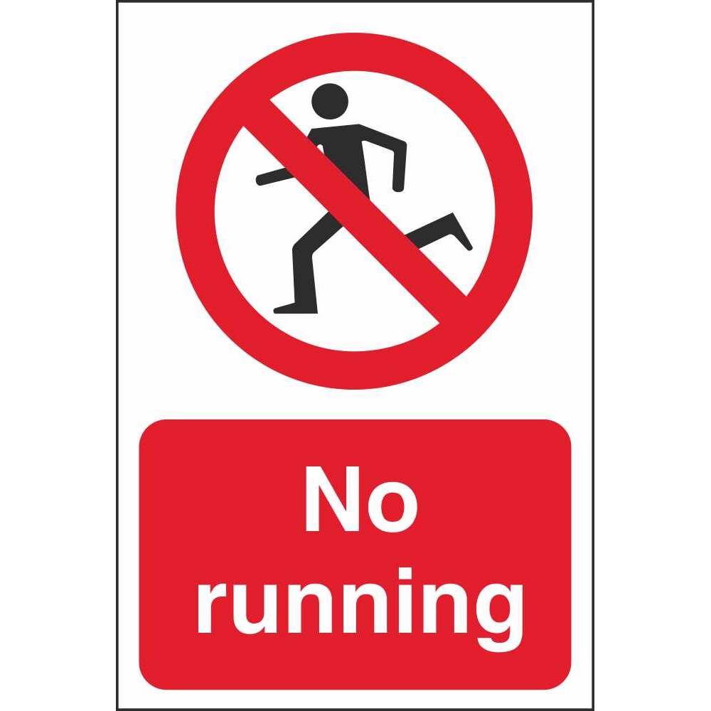 No Running Prohibition Signs | Child And School Safety ...
