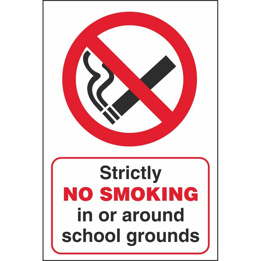 no smoking on school grounds signs school safety signs ireland