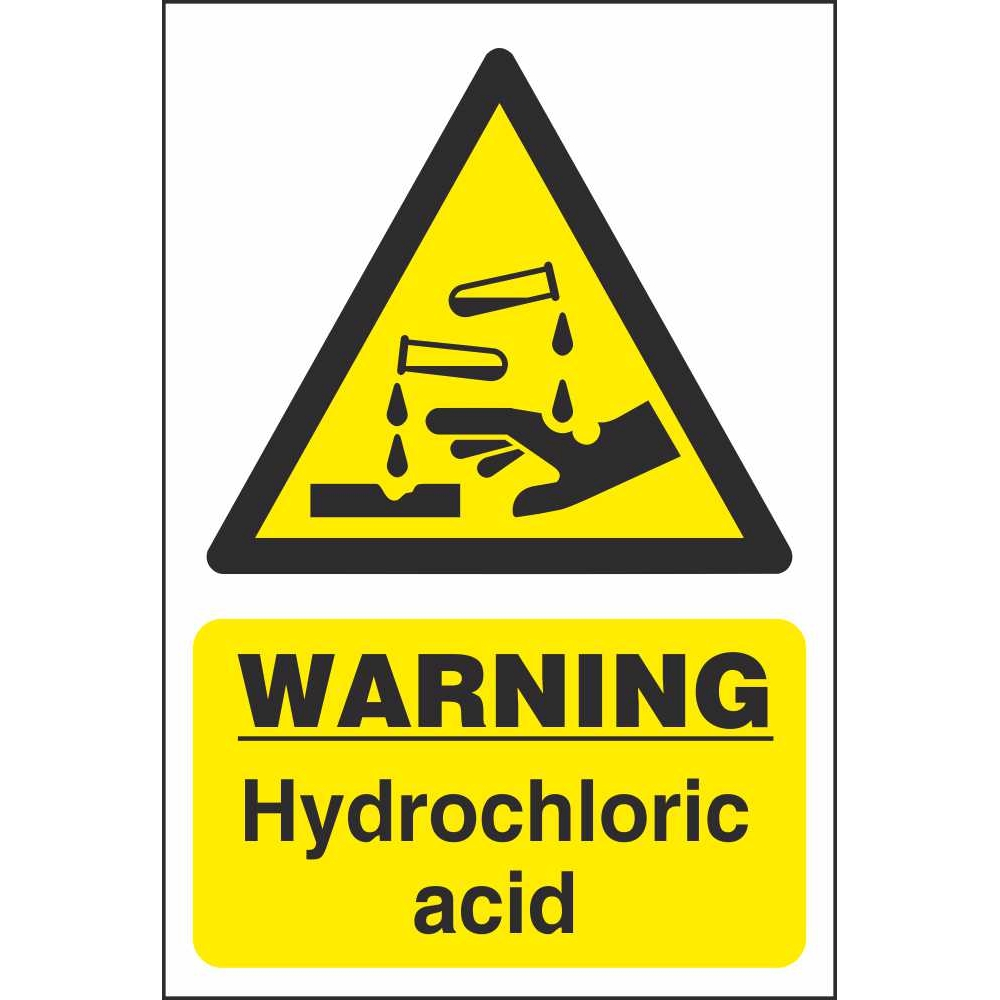 Hydrochloric Acid Warning Signs | Dangerous Goods Safety Signs Ireland