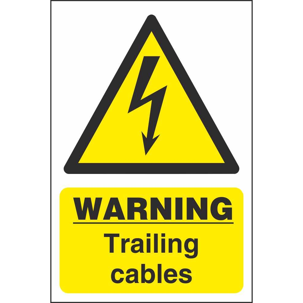 Trailing Cables Warning Signs