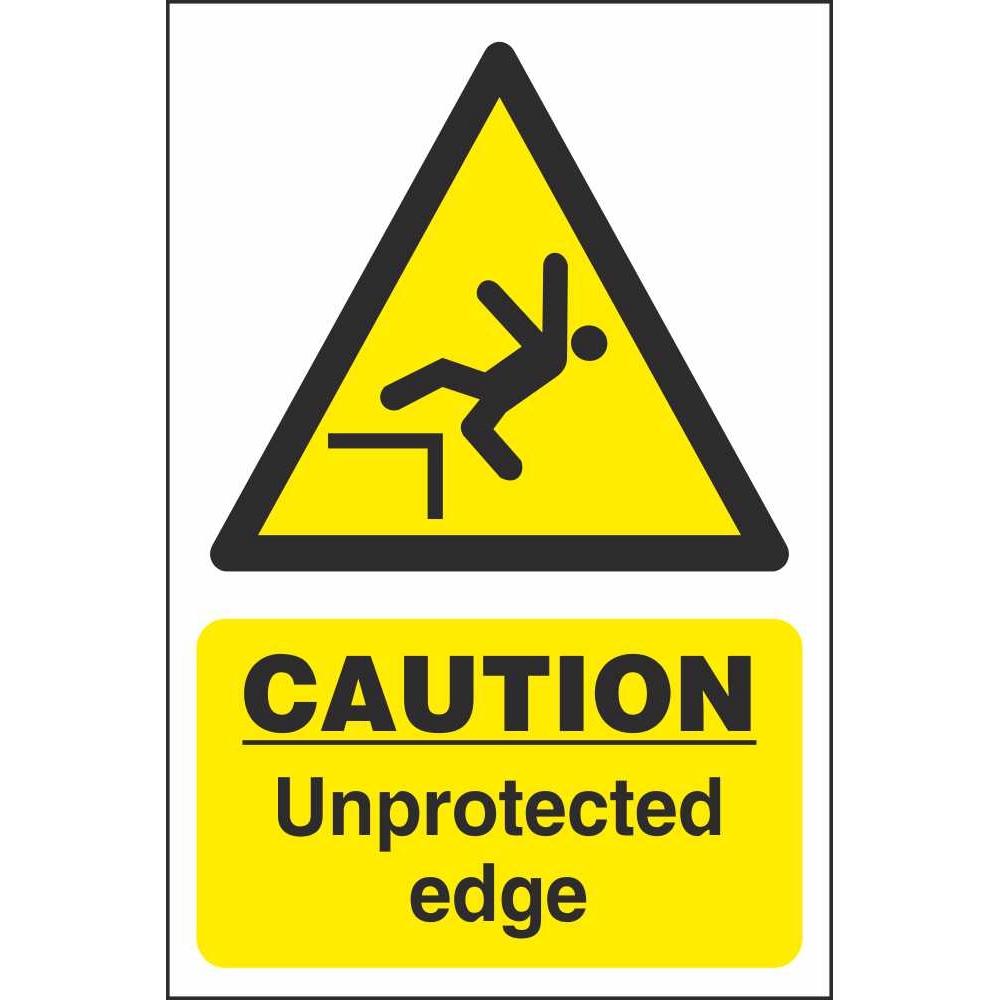 edge yellow caution sign - 1000×1000