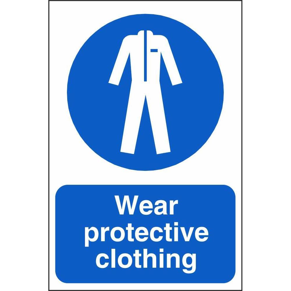 Wear Protective Clothing Farm Signs Mandatory Farm