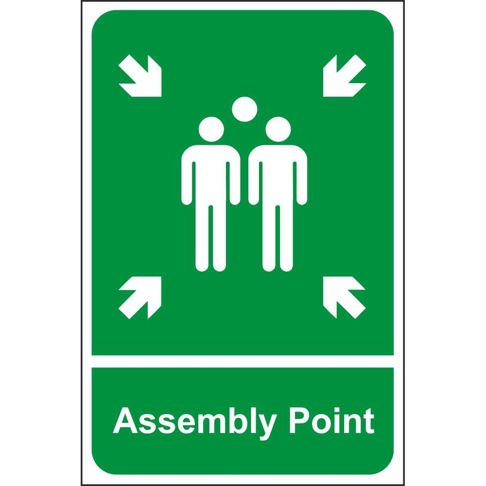 assembly point signs emergency escape fire safety signs. Black Bedroom Furniture Sets. Home Design Ideas