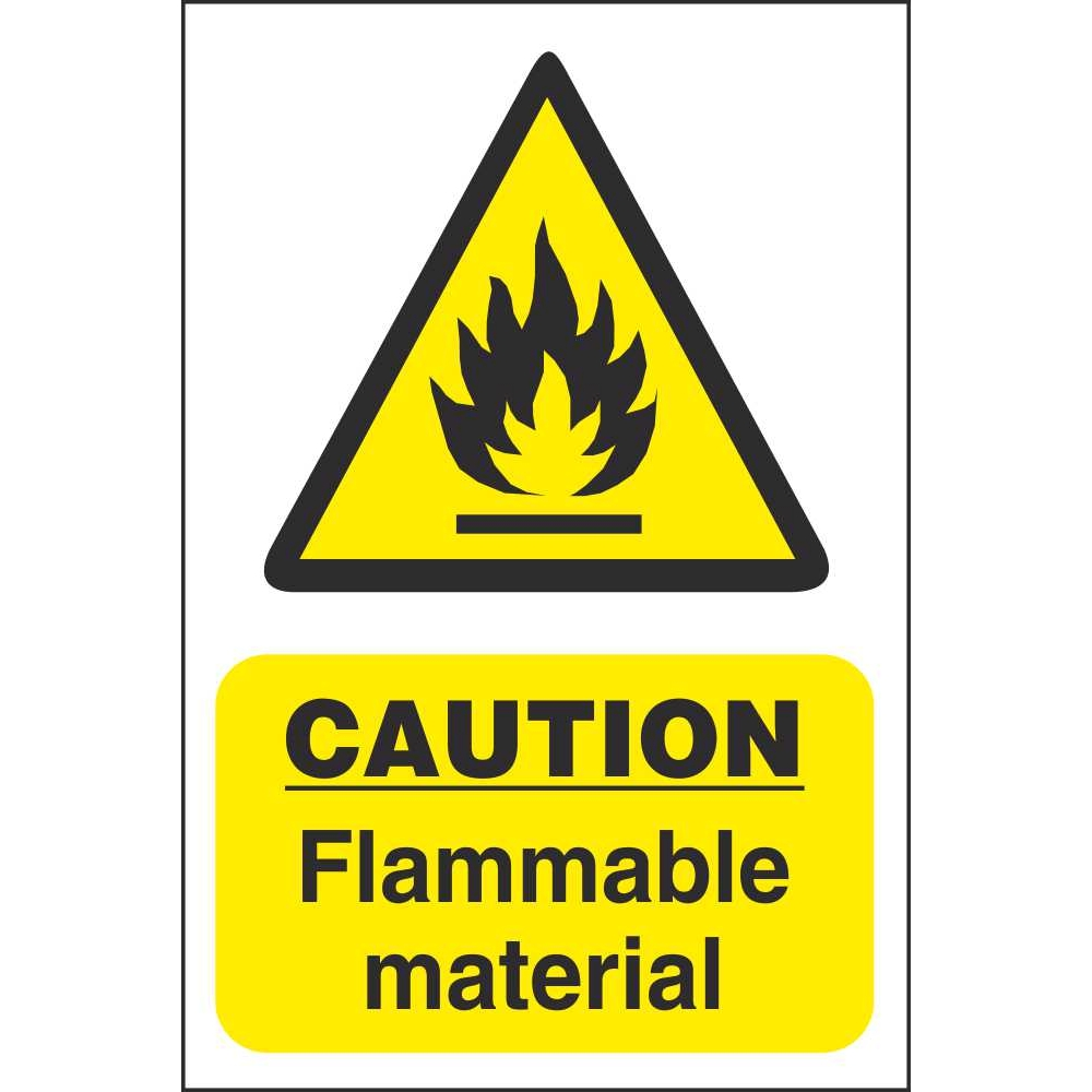 caution flammable material signs fire prevention safety