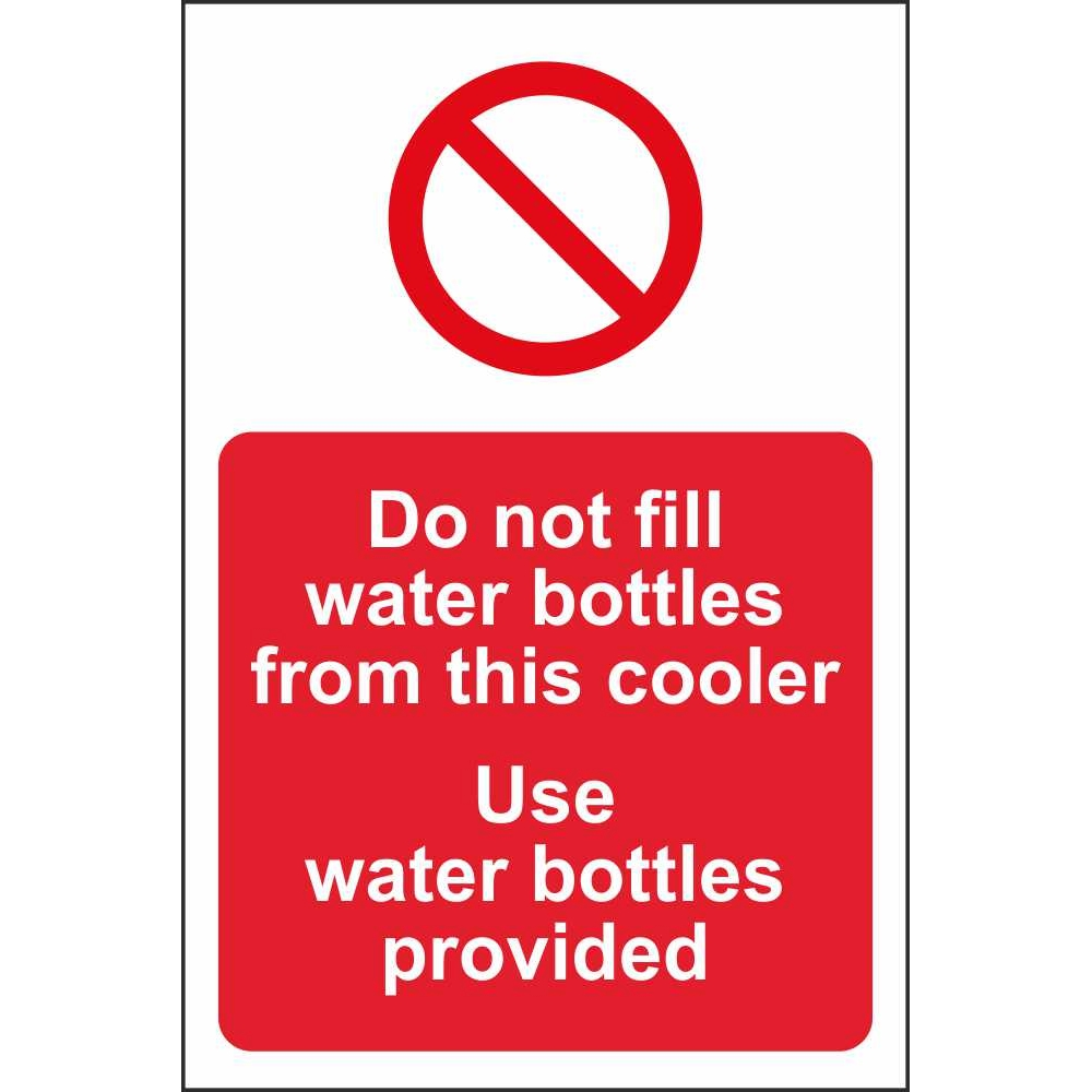 Do Not Fill Water Bottles From This Cooler Multi Notice