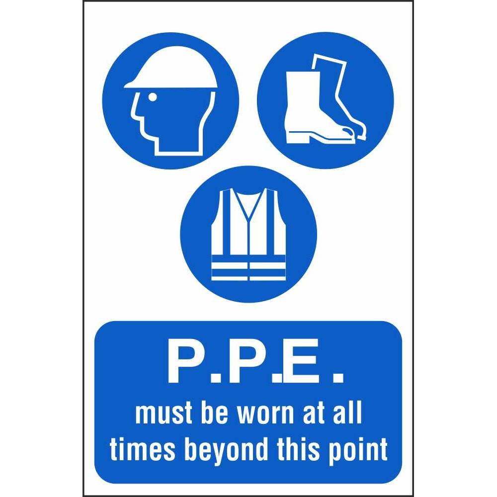 PPE Must Be Worn Beyond This Point Mandatory Workplace ...