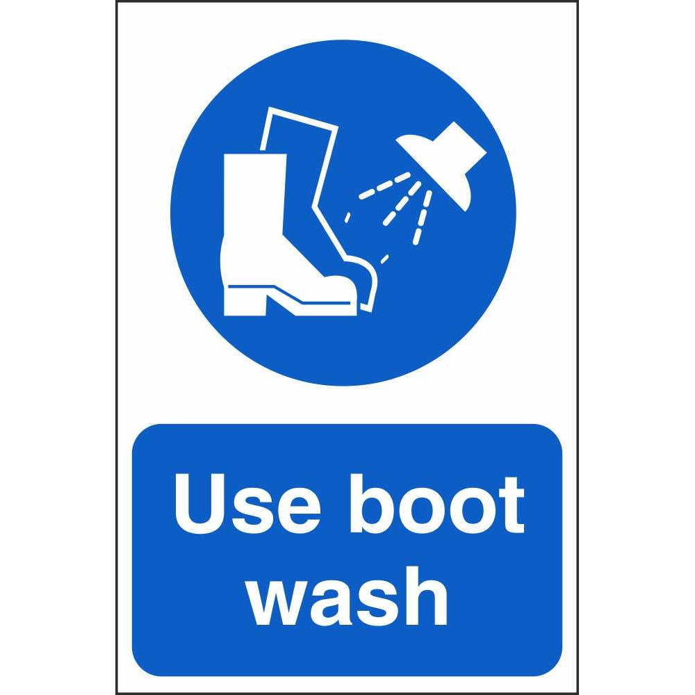 Use Boot Wash Signs Mandatory Workplace Safety Signs Ireland