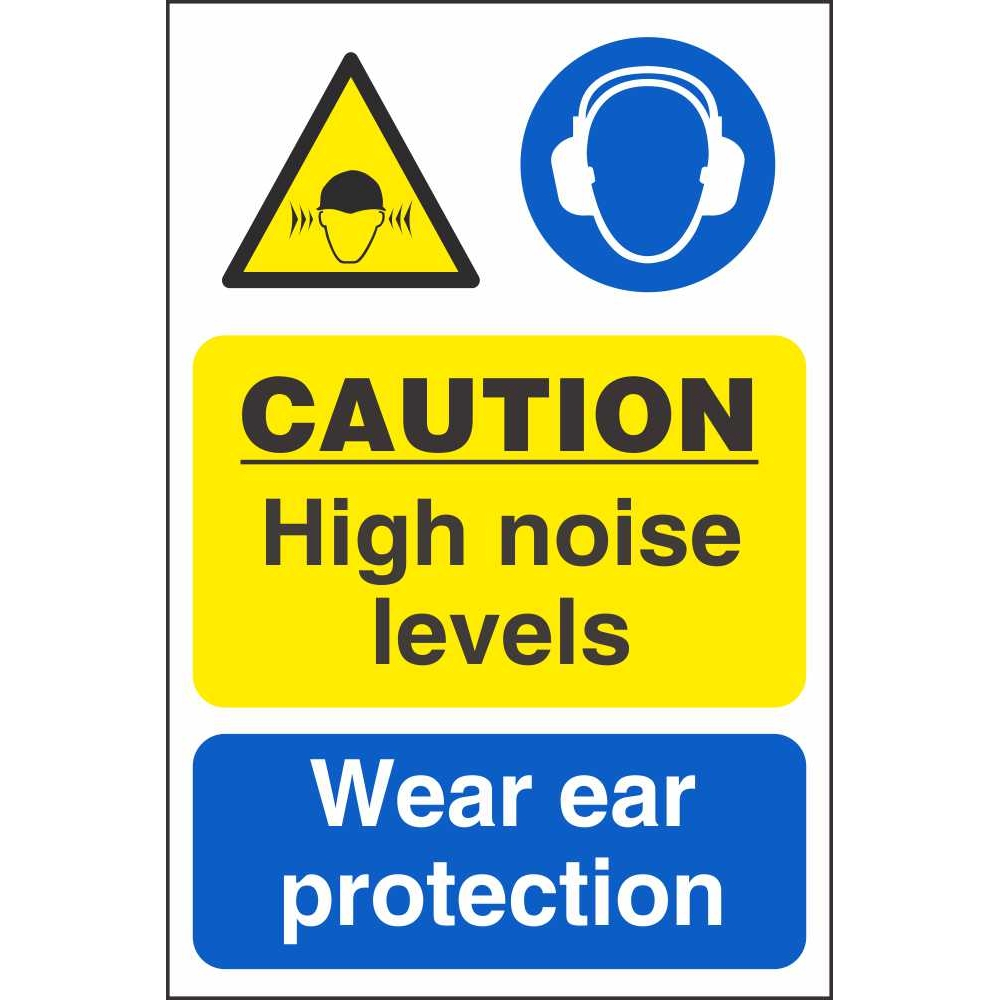 Caution High Noise Levels Use Ear Protection Multi Message