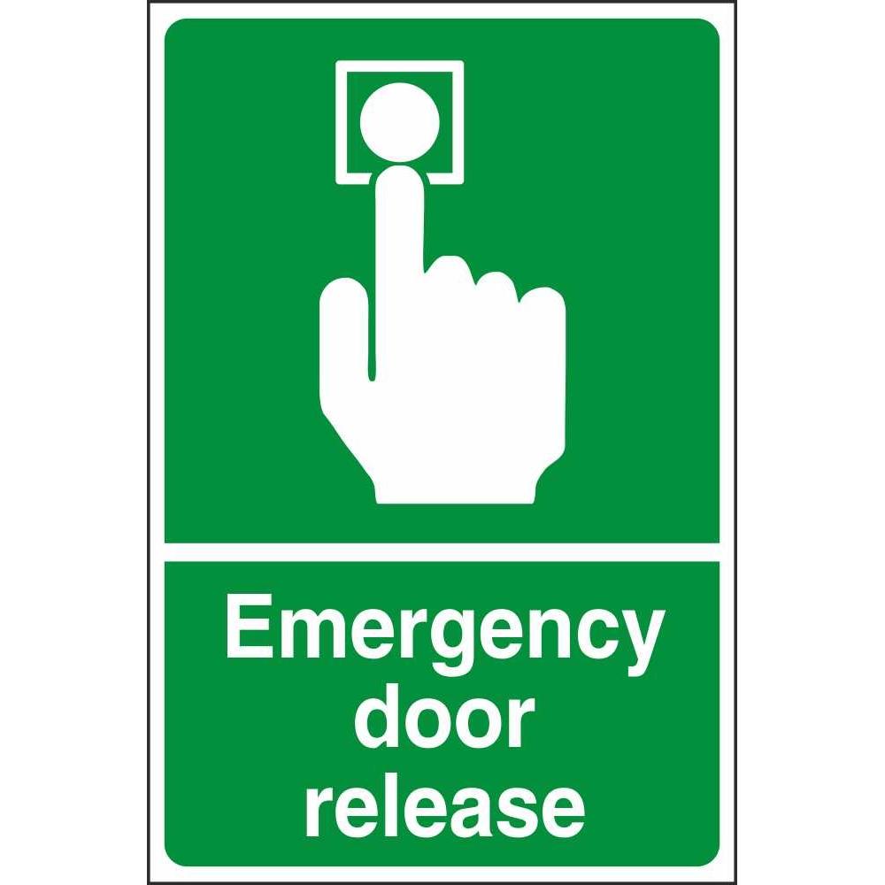 Emergency Door Release Signs Safe Condition Health