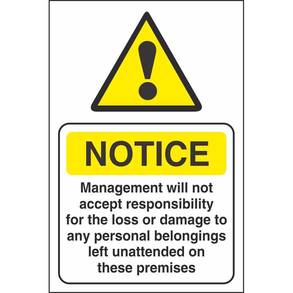 Disclaimer Sign