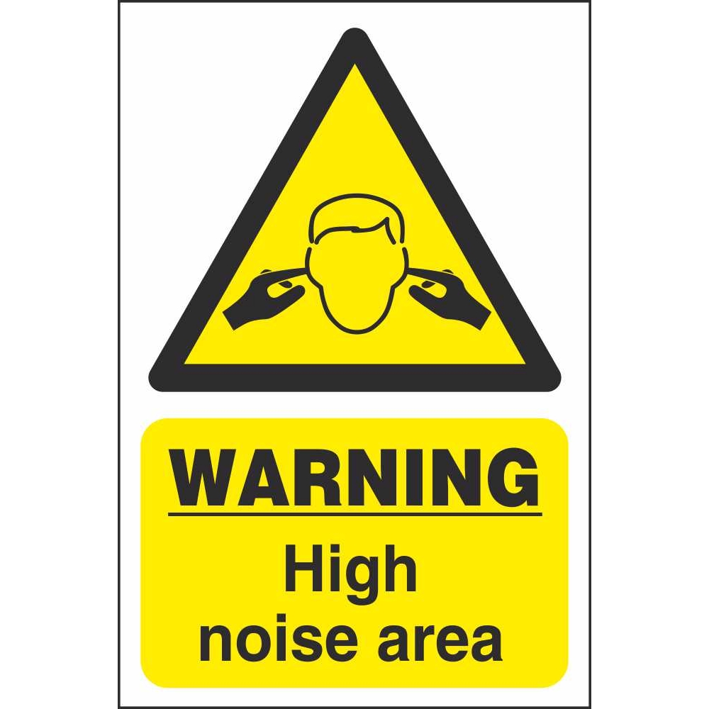Warning Noise Area Signs Workplace Machine Safety Signs