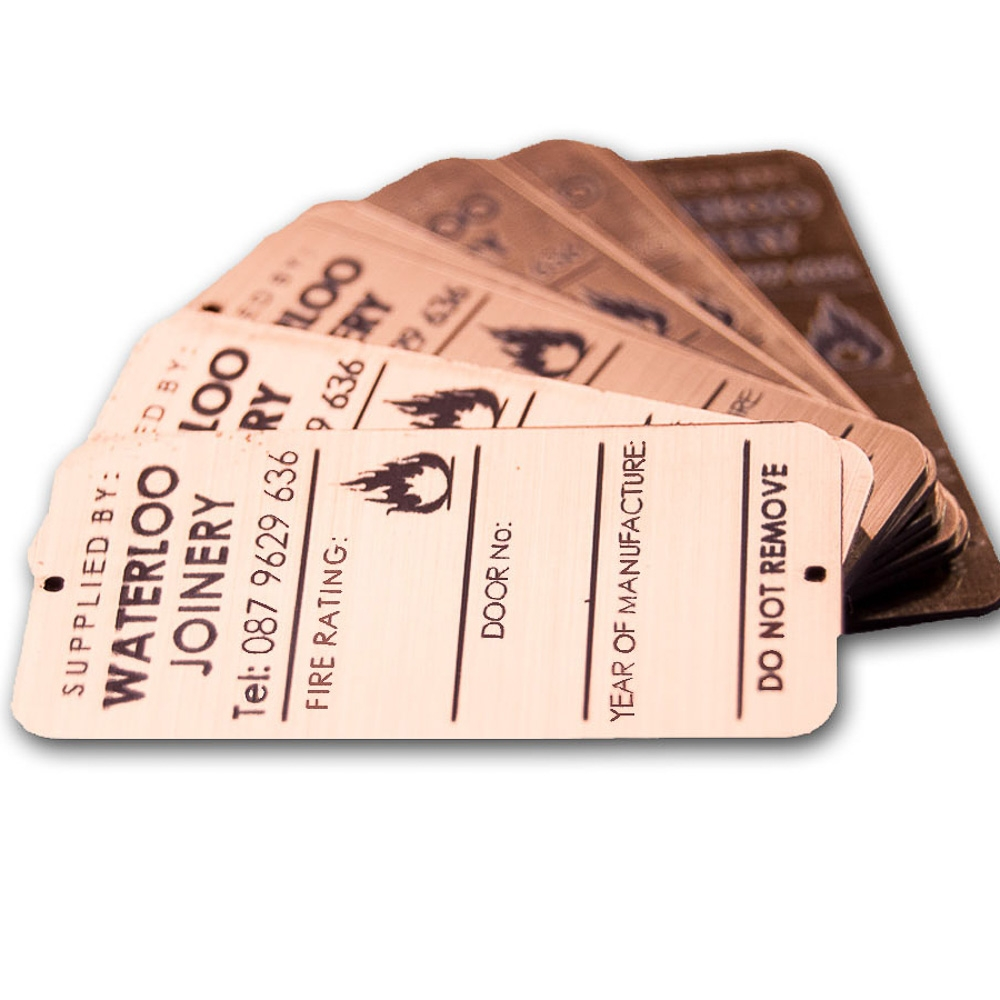 It's just a graphic of Tactueux Laser Etched Service Label