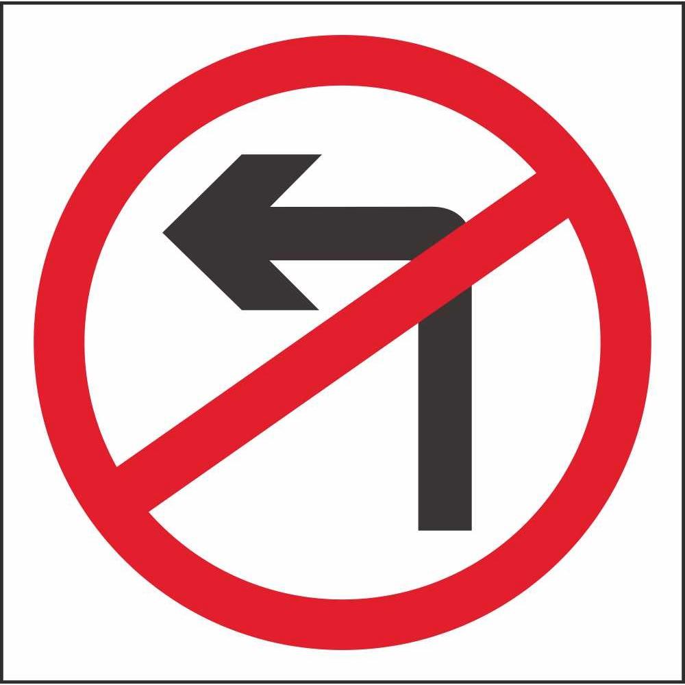 RUS 013 No Left Turn | Regulatory Traffic Road Safety ...