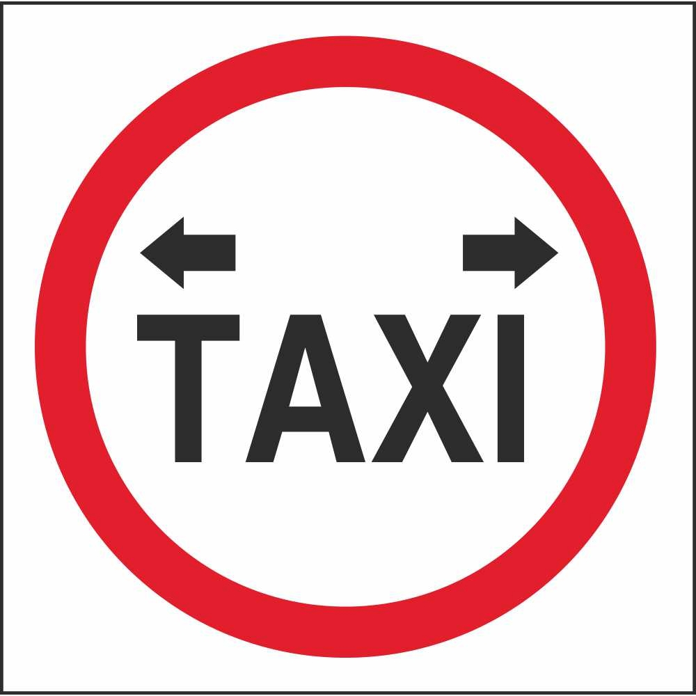 Rus 020 Taxi Stand Regulatory Traffic Road Safety Signs