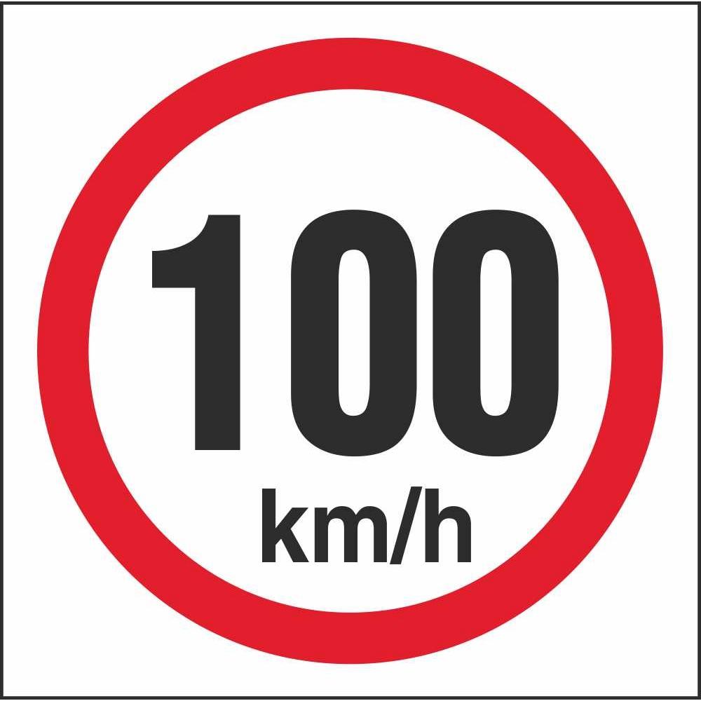 rus 040 speed limit 100km h regulatory traffic road safety signs. Black Bedroom Furniture Sets. Home Design Ideas