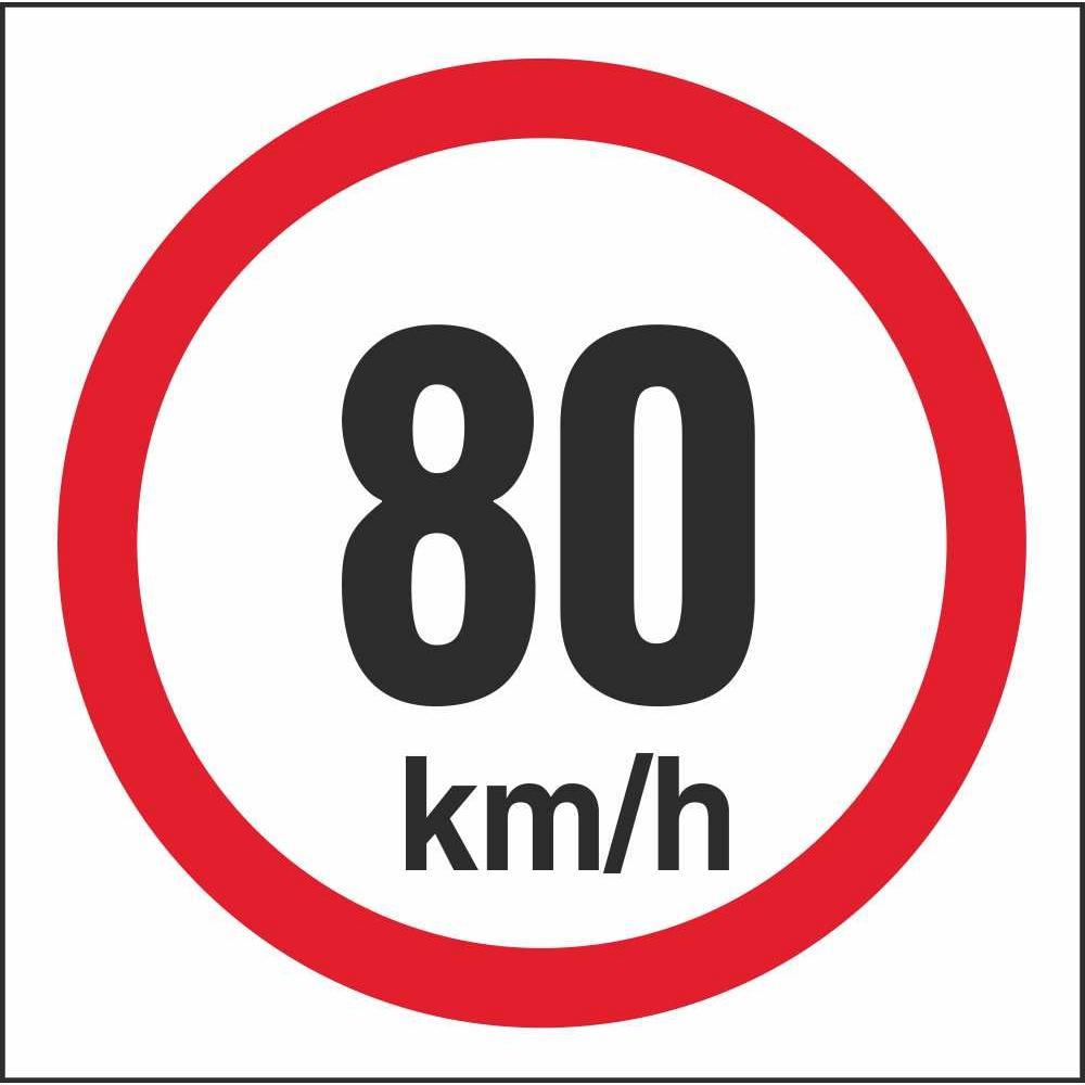 rus 041 speed limit 80km h regulatory traffic road safety signs. Black Bedroom Furniture Sets. Home Design Ideas