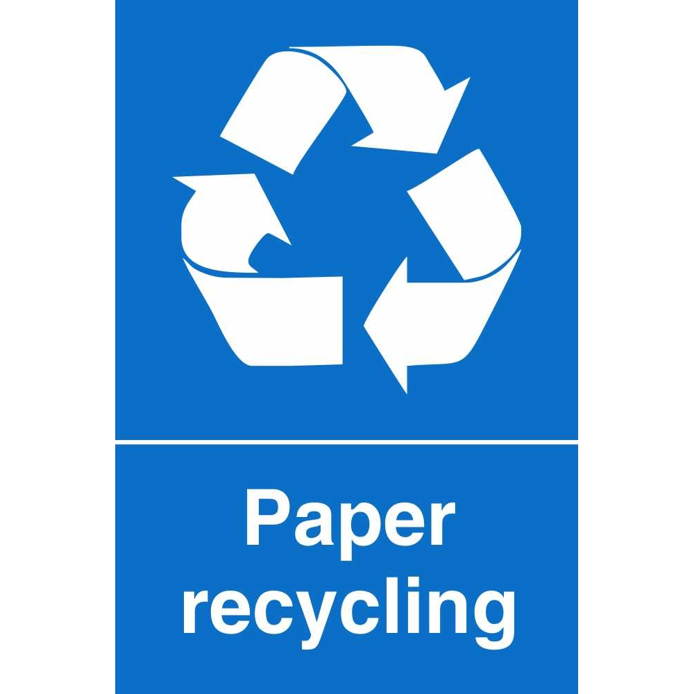 Paper Recycling Sign Paper Waste Recycling ...