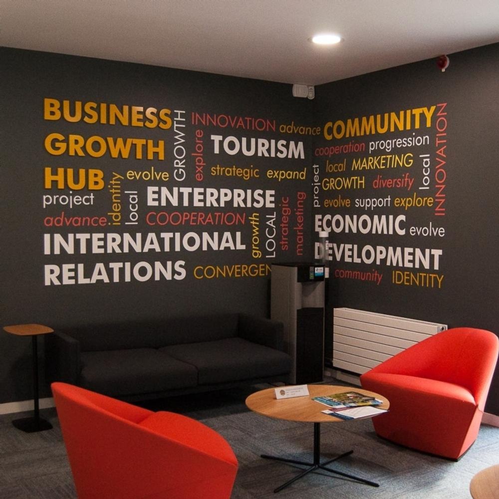 Office Wall Graphics For Branding, Creative Office Wall