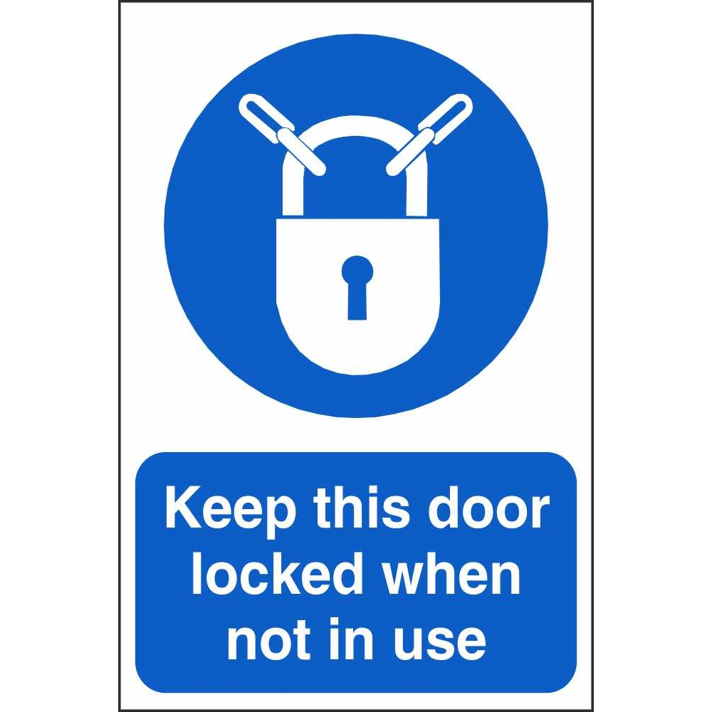 Keep This Door Locked When Not In Use Mandatory Sign  sc 1 st  Pat Dennehy Signs Cork & Keep This Door Locked Signs | Mandatory Security Safety Signs