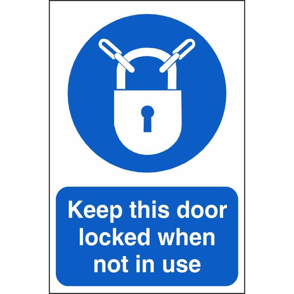 keep this door locked signs
