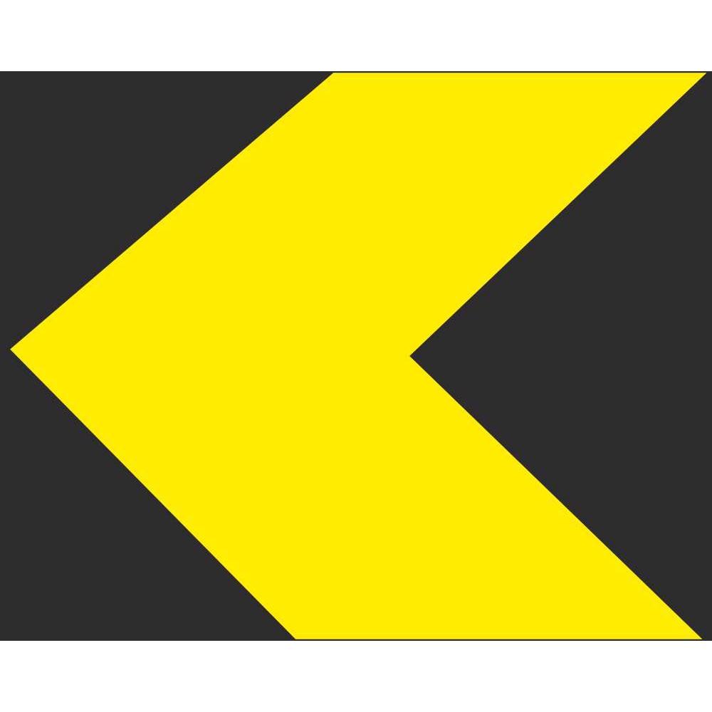 W 061l Single Chevron Left Road Warning Signs Ireland