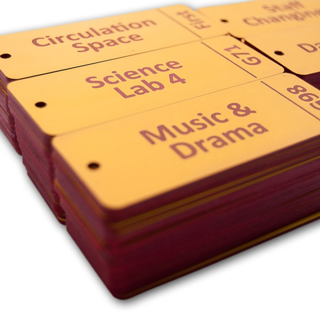 It's just a photo of Dynamite Laser Etched Service Label