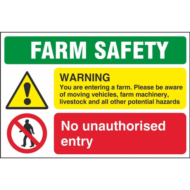 Farm Safety Warning You Are Entering A Farm Notice Safety
