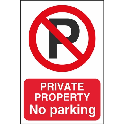 Prohibitory Car Park Safety Signs Ireland Pat Dennehy
