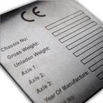 CE Name Plates